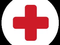 Ikonka przedstawiająca czerwony krzyż na białym tle
